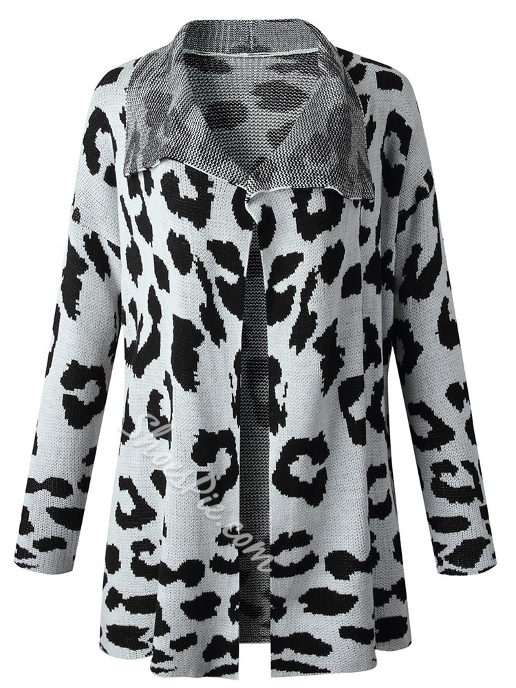 Print Thin Regular Loose Women's Sweater