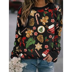 Print Cartoon Fall Women's Hoodie