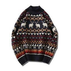 Cartoon Standard Print Sports Fall Sweater