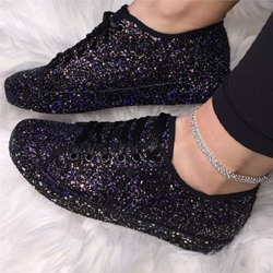 Shoespie Trendy Lace-Up Cross Strap Round Toe Flat With Sneakers