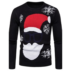 Round Neck Standard Cartoon Slim Winter Sweater