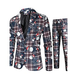 Blazer European Print Dress Suit