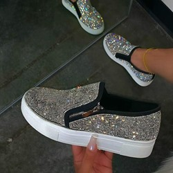 Shoespie Sexy Zipper Round Toe Low-Cut Upper Flat With Sneakers
