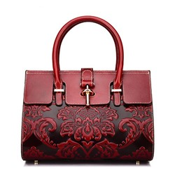 Shoespie Fashion Floral Embossing Tote Bags