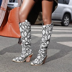 Shoespie Trendy Chunky Heel Pointed Toe Slip-On Short Floss Boots