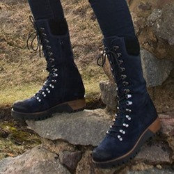 Shoespie Stylish Round Toe Side Zipper PU Boots