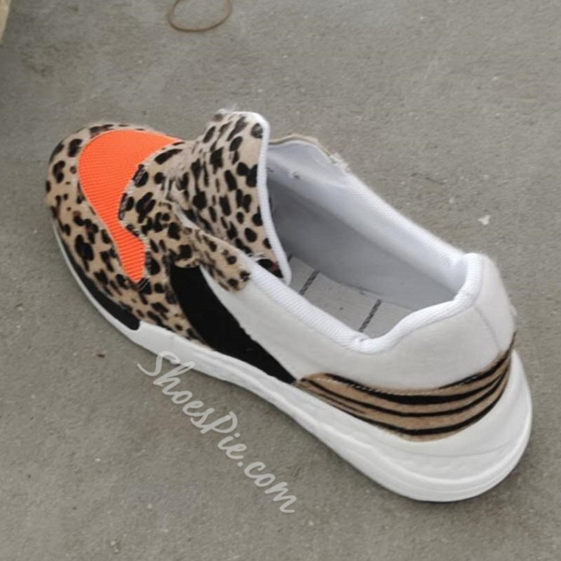 Shoespie Sexy Round Toe Low-Cut Upper Lace-Up Wedge Heel Sneakers