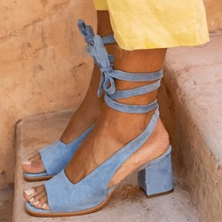 Shoespie Sexy Ankle Strap Chunky Heel Open Toe Plain Sandals