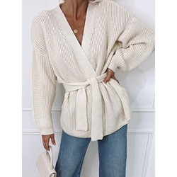 Thin Lace-Up Regular Loose Women's Sweater