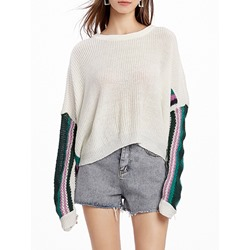 Thin Patchwork Fall Women's Sweater