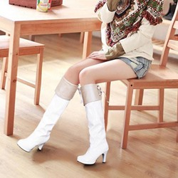 Shoespie Stylish Plain Stiletto Heel Round Toe Boots