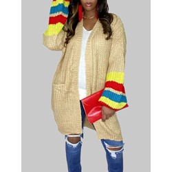 Patchwork Regular Fall Women's Sweater