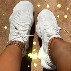 Shoespie Stylish Low-Cut Upper Lace-Up Round Toe Flat With Sneakers