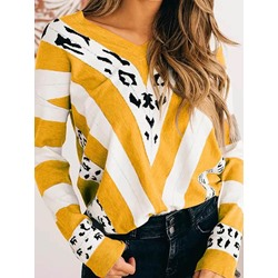 Thin Print Regular Fall Women's Sweater