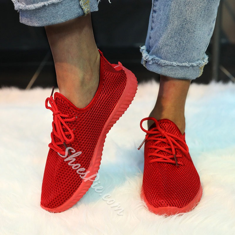 Shoespie Sexy Lace-Up Low-Cut Upper Round Toe Flat With Sneakers