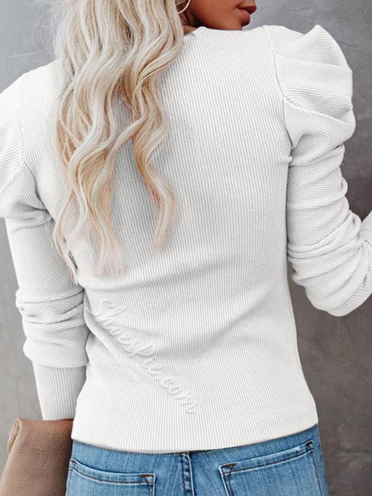 Patchwork Lace Slim Women's Sweater
