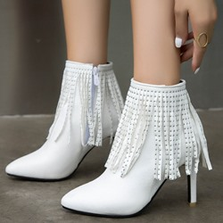Shoespie Trendy Stiletto Heel Side Zipper Pointed Toe Casual Boots