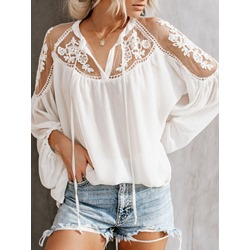 Floral Lace Long Sleeve Women's Blouse