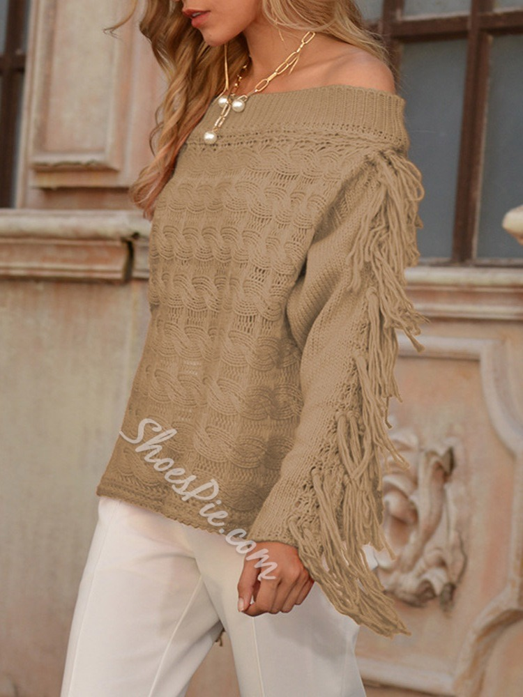 Thin Tassel Loose Fall Women's Sweater