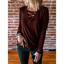 Regular Patchwork Thin Fall Women's Sweater