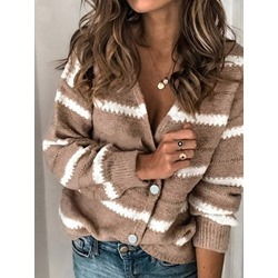 Single-Breasted Button Loose Women's Sweater