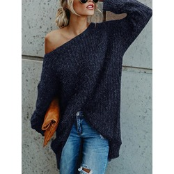 Off Shoulder Long Women's Sweater