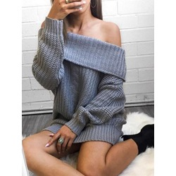 Off Shoulder Loose Long Women's Sweater