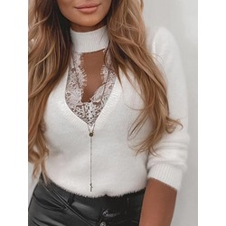Slim Lace Women's Sweater
