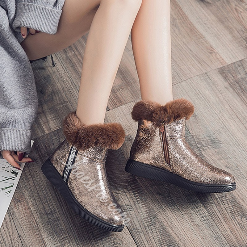 Shoespie Trendy Letter Flat With Round Toe Casual Boots