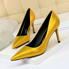 Shoespie Stylish Stiletto Heel Pointed Toe Slip-On Low-Cut Upper Thin Shoes