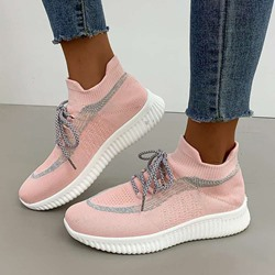 Shoespie Trendy Lace-Up Round Toe Western Sneakers