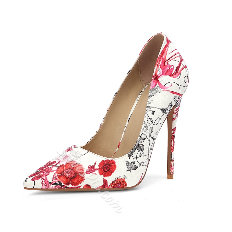 Shoespie Trendy Slip-On Pointed Toe Print Banquet Thin Shoes