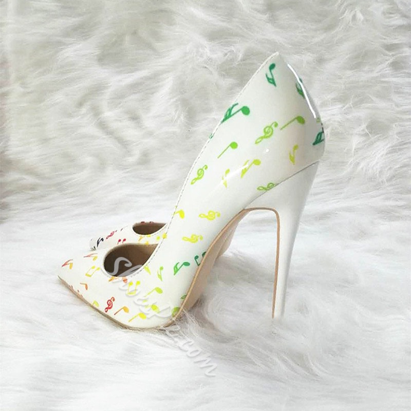 Shoespie Stylish Slip-On Stiletto Heel Print Low-Cut Upper Thin Shoes