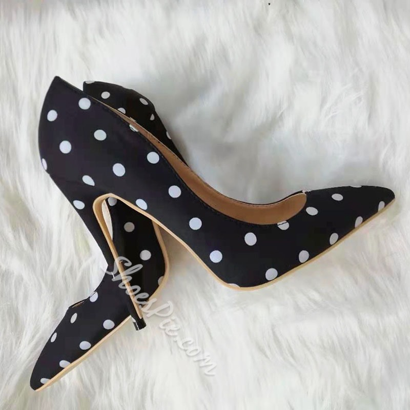 Shoespie Stylish Pointed Toe Stiletto Heel Print Low-Cut Upper Thin Shoes