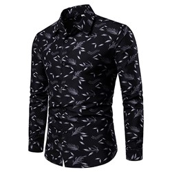 Men's Print Slim Fall Shirt
