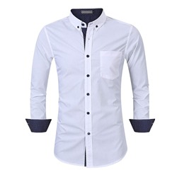 Lapel OL Pocket Slim Spring Shirt