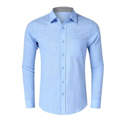 Men's Plain European Lapel Slim Fall Shirt
