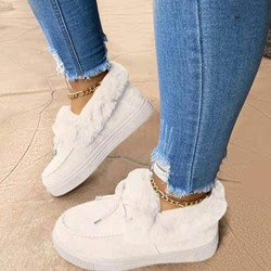Shoespie Trendy Slip-On Round Toe Plain Sneakers