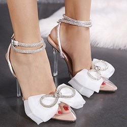 Shoespie Sexy Stiletto Heel Pointed Toe Line-Style Buckle Plain Sandals