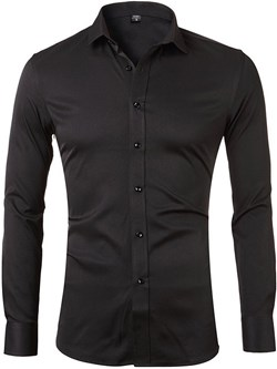Lapel European Plain Single-Breasted Spring Shirt