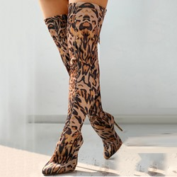 Shoespie Stylish Stiletto Heel Pointed Toe Slip-On Western Boots