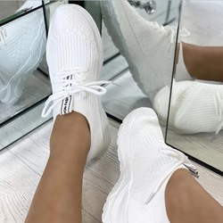 Shoespie Trendy Lace-Up Round Toe Low-Cut Upper Flat With Sneakers