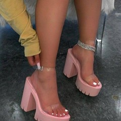 Shoespie Sexy Open Toe Line-Style Buckle Chunky Heel Casual Sandals