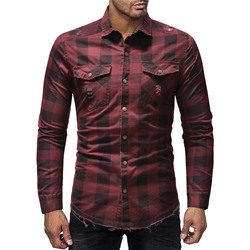 Plaid Casual Hole Summer Single-Breasted Shirt
