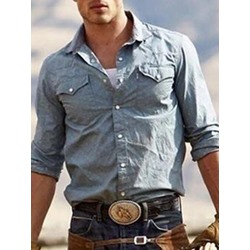Casual Pocket Lapel Summer Slim Shirt
