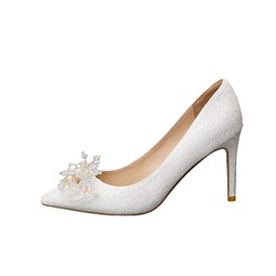 Shoespie Stylish Stiletto Heel Pointed Toe 3D Sweet Thin Shoes