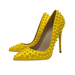 Shoespie Sexy Pointed Toe Rivet Slip-On Professional Thin Shoes