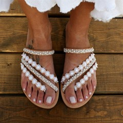 Shoespie Stylish Flat With Slip-On Appliques Summer Slippers