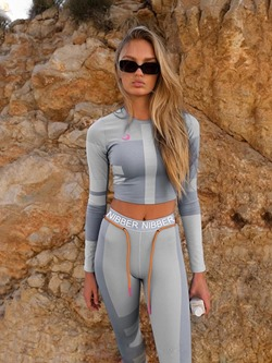 Color Block Polyester Long Sleeve Full Length Clothing Sets