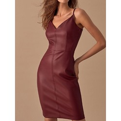 Zipper Knee-Length Sleeveless Pullover Women's Dress